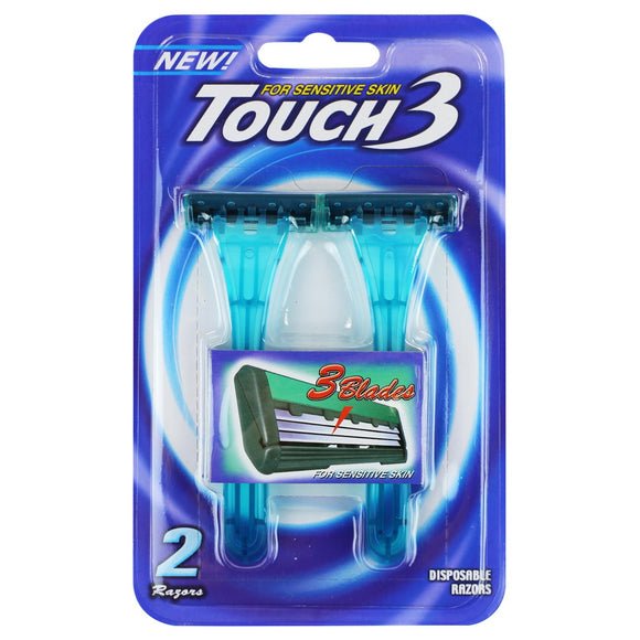 Dorco Touch 3 Disposable Razors, 2ct