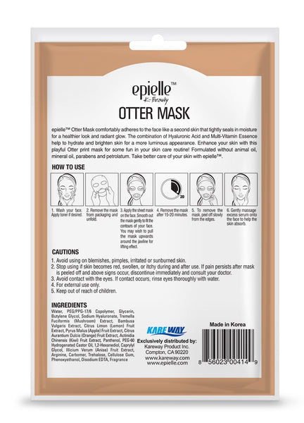 epielle®Otter Character Mask, 1ct