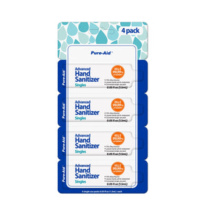 Single Hand Sanitizers 10 Pack (40 Individual Pouches)