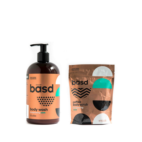 Body Scrub & Wash - Mint Bundle