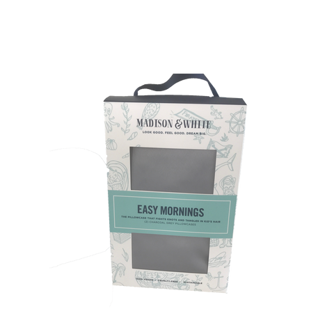 Easy Mornings (Set of 2) - Organic Bamboo Pillowcases