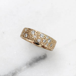 STELLA | Gold Band | Diamond Ring | Stacking Ring