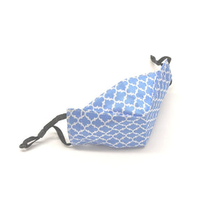 Reusable Face Mask -  Moroccan Damask in Blue