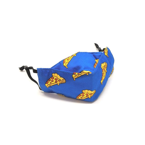 TukTuk Designs unique shaped 3D face masks in 100% cotton are created for maximum coverage and comfort. Stay safe and stylish in our fun pizza print available in children and mommy and me sizes.