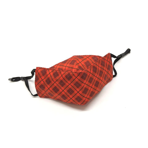 Reusable Face Mask - Holiday Plaid in Red