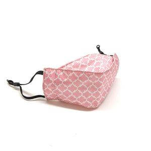 Reusable Face Mask - Moroccan Damask in Pink