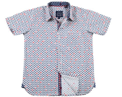 Siam Sailboats White - Short Sleeve