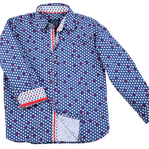 Siam Sailboats Blue - Long Sleeve