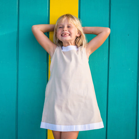 Seaside Shift Dress - Sand