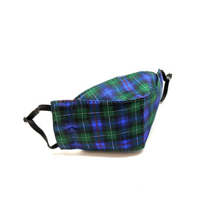 Reusable Face Mask - Holiday Plaid in Blue