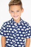 Erawan Elephants Blue - Short Sleeve