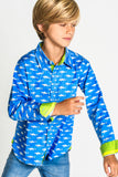 TukTuk Designs Boys shirts in a fun mako shark print, designed to spark the imagination of little minds. Thoughtfully tailored in small batches and with fine detailing for stylish little gentlemen. Perfect for beach vacations, parties and memorable moments for the shark-obsessed!