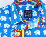Erawan Elephants in Turquoise - Long Sleeve
