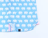 Erawan Elephants in Sky Blue- Long Sleeve