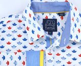 Origami Sailboats in Red/Blue - Long Sleeve