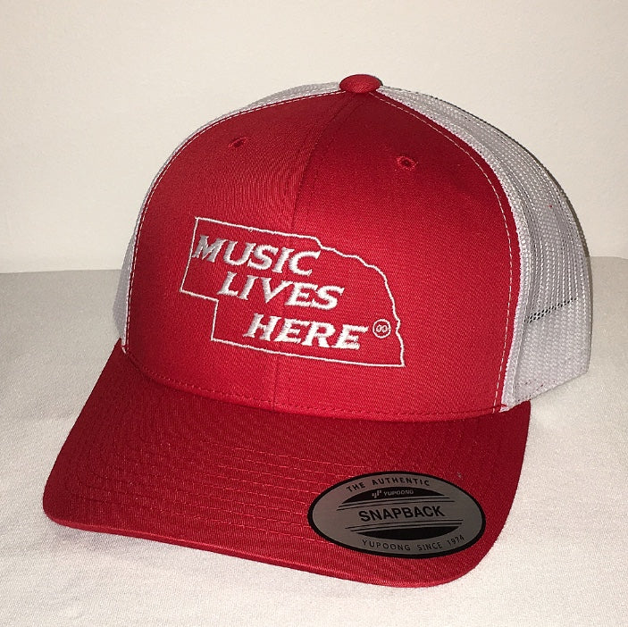 "Nebraska ""Music Lives Here"" Trucker SnapBack Hat"