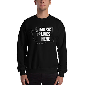 "Washington ""MUSIC LIVES HERE"" Sweatshirt"