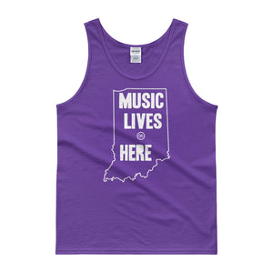 "Indiana  ""MUSIC LIVES HERE"" Men's Tank Top"