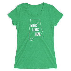 "Alabama - Gadsden ""MUSIC LIVES HERE"" Women's Triblend T-Shirt"