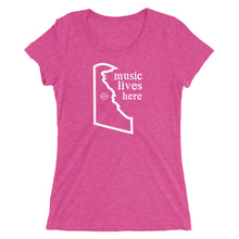 "Delaware ""MUSIC LIVES HERE"" Women's Triblend T-Shirt"