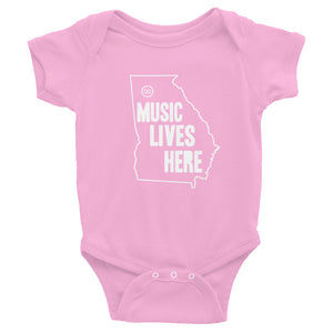 "Georgia ""MUSIC LIVES HERE"" Baby Onesie"
