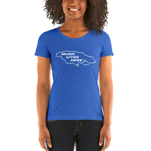 "Jamaica ""MUSIC LIVES HERE"" Women's Triblend T-Shirt"