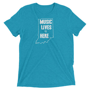 "Indiana ""MUSIC LIVES HERE"" Men's Triblend T-Shirt"