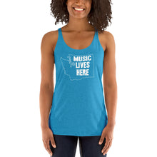 "Washington ""MUSIC LIVES HERE"" Women's Triblend Racerback Tank"