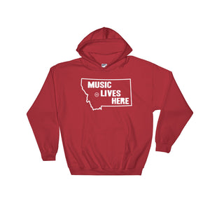 "Montana ""MUSIC LIVES HERE"" Hooded Sweatshirt"