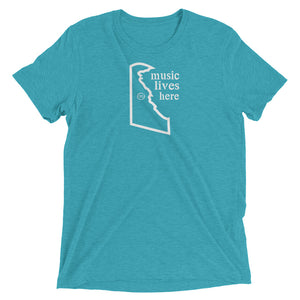 "Delaware ""MUSIC LIVES HERE"" Men's Triblend T-Shirt"