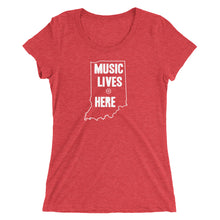 "Indiana ""MUSIC LIVES HERE"" Women's Triblend T-Shirt"
