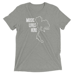 "Thailand ""MUSIC LIVES HERE"" Men's Triblend T-Shirt"