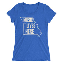 "Missouri ""MUSIC LIVES HERE"" Women's Triblend Tshirt"