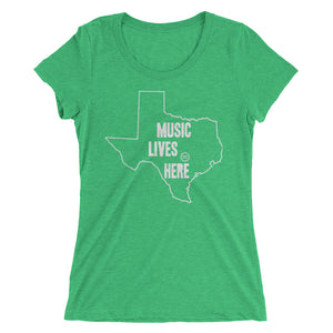 "Texas ""MUSIC LIVES HERE"" Women's Triblend Tshirt"