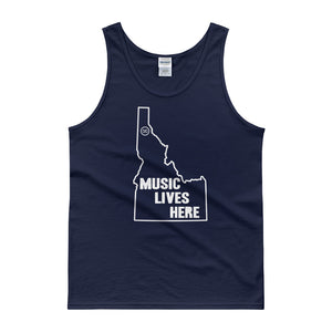 "Idaho ""MUSIC LIVES HERE"" Men's Tank Top"