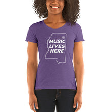 "Mississippi ""MUSIC LIVES HERE"" Women's Triblend T-Shirt"