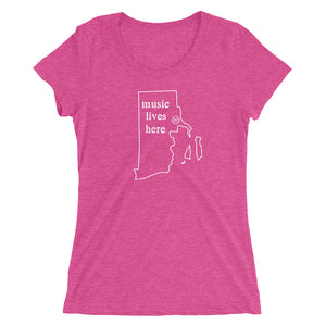 "Rhode Island ""MUSIC LIVES HERE"" Women's Triblend T-Shirt"