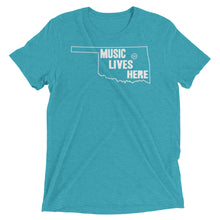 "Oklahoma ""MUSIC LIVES HERE"" Men's Triblend Tshirt"