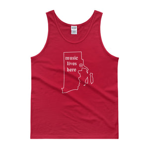 "Rhode Island ""MUSIC LIVES HERE"" Men's Tank top"