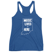 "Indiana ""MUSIC LIVES HERE"" Women's Triblend Racerback Tank"