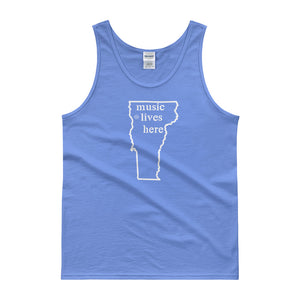 "Vermont ""MUSIC LIVES HERE"" Men's Tank top"