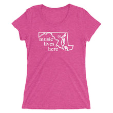 "Maryland ""MUSIC LIVES HERE"" Women's Triblend T-Shirt"