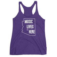 "Arizona ""MUSIC LIVES HERE"" Women's Triblend Racerback Tank Top"