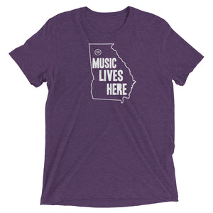 "Georgia ""MUSIC LIVES HERE"" Men's Triblend T-Shirt"