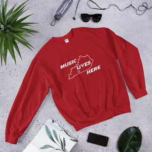 "Kentucky ""MUSIC LIVES HERE"" Men's Sweatshirt"
