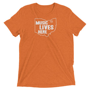 "Ohio ""MUSIC LIVES HERE"" Men's Triblend T-Shirt"