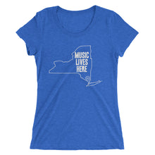 "New York ""MUSIC LIVES HERE"" Women's Triblend Tshirt"