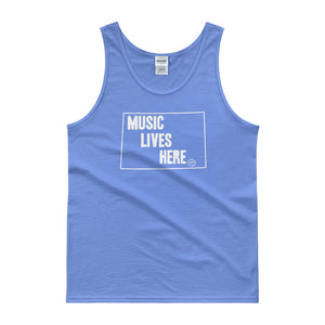 "Wyoming ""MUSIC LIVES HERE"" Men's Tank Top"