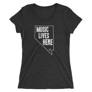 "Nevada ""MUSIC LIVES HERE"" Women's Triblend Tshirt"