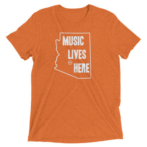 "Arizona ""MUSIC LIVES HERE"" Men's Triblend T-Shirt"